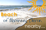Beach of Marennes Oleron island nearby the complex